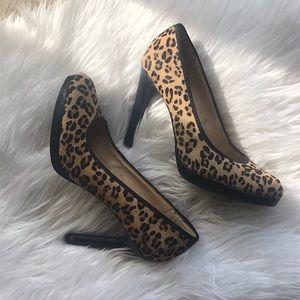 Preview Intl. Leopard Calf Hair Heels Preloved!